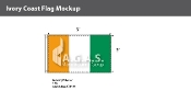 Ivory Coast Flags 3x5 foot