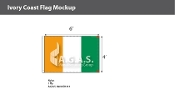 Ivory Coast Flags 4x6 foot