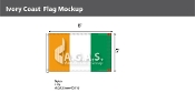 Ivory Coast Flags 5x8 foot