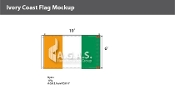 Ivory Coast Flags 6x10 foot