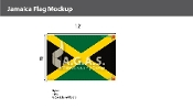Jamaica Flags 8x12 foot