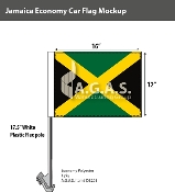 Jamaica Car Flags 12x16 inch Economy