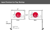 Japan Car Flags 10.5x15 inch Premium