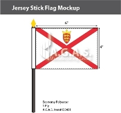 Jersey Stick Flags 4x6 inch