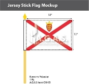 Jersey Stick Flags 12x18 inch