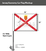 Jersey Car Flags 12x16 inch Economy