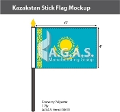 Kazakhstan Stick Flags 4x6 inch