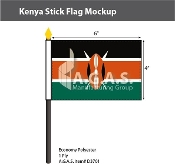 Kenya Stick Flags 4x6 inch