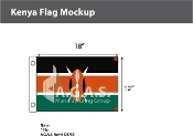 Kenya Flags 12x18 inch