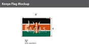 Kenya Flags 4x6 foot