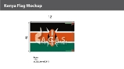 Kenya Flags 8x12 foot