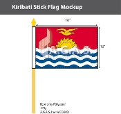 Kiribati Stick Flags 12x18 inch
