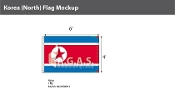 Korea North Flags 4x6 foot