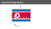 Korea North Flags 8x12 foot