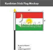 Kurdistan Stick Flags 4x6 inch