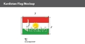 Kurdistan Flags 2x3 foot