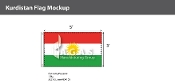 Kurdistan Flags 3x5 foot