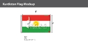 Kurdistan Flags 5x8 foot