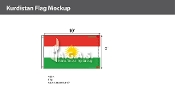 Kurdistan Flags 6x10 foot