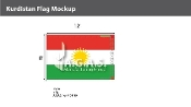 Kurdistan Flags 8x12 foot