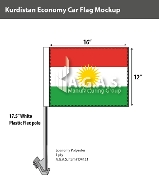 Kurdistan Car Flags 12x16 inch Economy