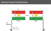 Kurdistan Car Flags 10.5x15 inch Premium