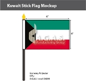 Kuwait Stick Flags 4x6 inch