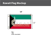 Kuwait Flags 12x18 inch