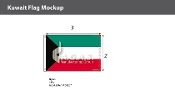 Kuwait Flags 2x3 foot