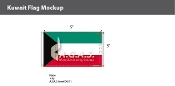 Kuwait Flags 3x5 foot