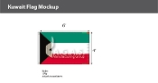 Kuwait Flags 4x6 foot