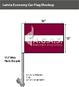 Latvia Car Flags 12x16 inch Economy