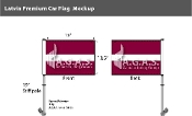Latvia Car Flags 10.5x15 inch Premium