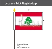Lebanon Stick Flags 4x6 inch