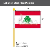 Lebanon Stick Flags 12x18 inch
