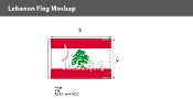 Lebanon Flags 2x3 foot