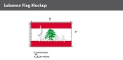 Lebanon Flags 3x5 foot