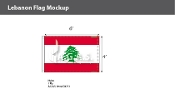 Lebanon Flags 4x6 foot