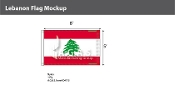 Lebanon Flags 5x8 foot