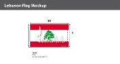 Lebanon Flags 6x10 foot