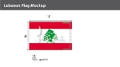 Lebanon Flags 8x12 foot