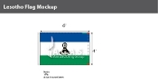 Lesotho Flags 4x6 foot
