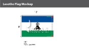 Lesotho Flags 8x12 foot