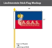 Liechtenstein Stick Flags 12x18 inch