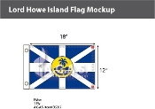 Lord Howe Island Flags 12x18 inch