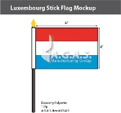 Luxembourg Stick Flags 4x6 inch