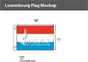 Luxembourg Flags 12x18 inch
