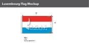 Luxembourg Flags 3x5 foot