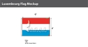 Luxembourg Flags 4x6 foot