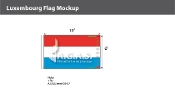 Luxembourg Flags 6x10 foot
